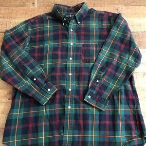 Ralph Lauren Classic Fit Plaid Button Down XL GUC